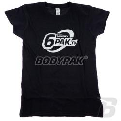 BODYPAK T-shirt 6PAK.TV WOMAN [CZARNA] - 1 szt.