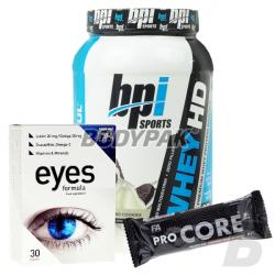 BPI Whey-HD - 907g + [FA Eyes Formula 30 tabl. + ProCore Protein Bar 80g] GRATIS