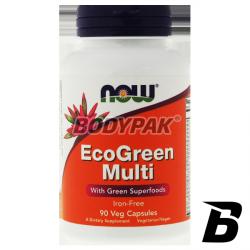 NOW Foods Eco Green Multi [Iron Free] - 90 kaps.