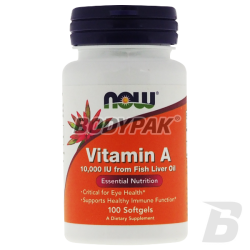 NOW Foods Vitamin A 10000IU - 100 kaps.