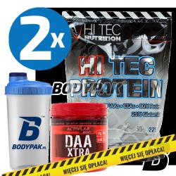 Hi Tec Protein - 2x 2250g + Activlab DAA Xtra - 240g + BODYPAK Shaker TRANSPARENT - 700ml [GRATIS]