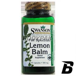 Swanson Full Spectrum Lemon Balm 500mg - 60 kaps.