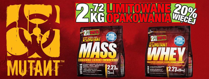 Limitowane opakowania Mutant Mass i Mutant Whey! 20% GRATIS!