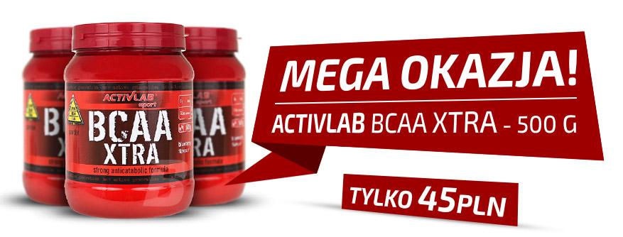 MEGA OKAZJA - ACTIVLAB BCAA XTRA 500G za 45 PLN