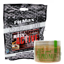 FitMax Mass Active - 5kg + Fitness Authority So good! Pro Nuts Butter - 450g GRATIS