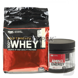 ON 100% Whey Gold Standard - 4540g + Amino Energy - 90g GRATIS