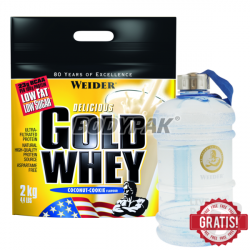 Weider Gold Whey - 2kg + Canister Blue - 1 szt.