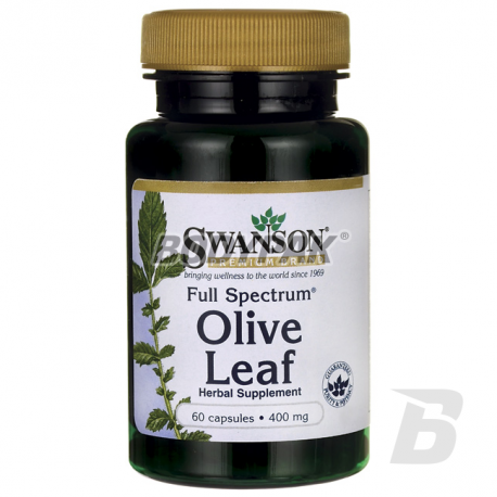 Swanson Full Spectrum Olive Leaf 400mg - 60 kaps.