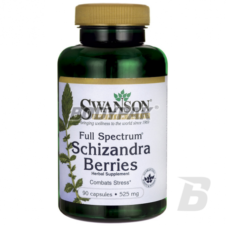Swanson Full Spectrum Schizandra Berries 525mg - 90 kaps.