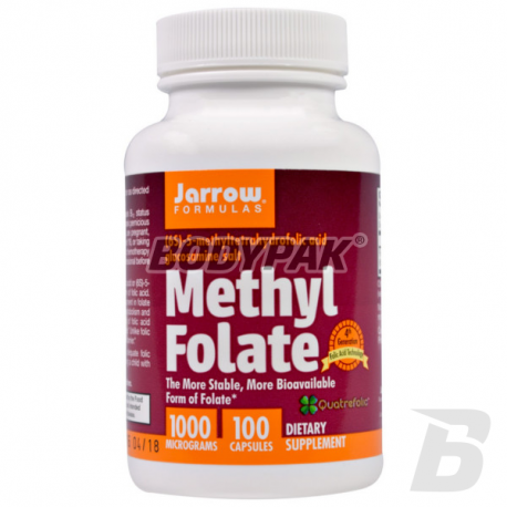 Jarrow Methyl Folate 1000mcg - 100 kaps.