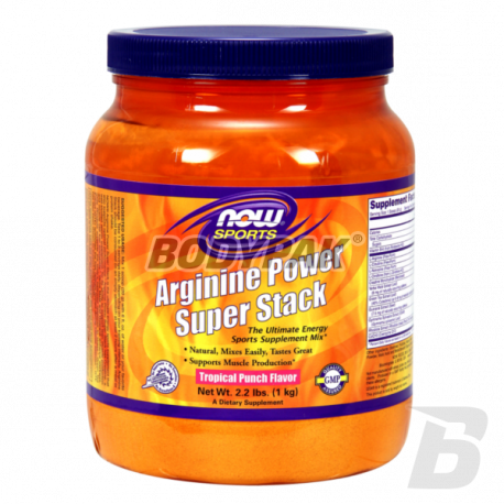 NOW Foods Arginine Power Super Stack [Tropic ] - 1000g