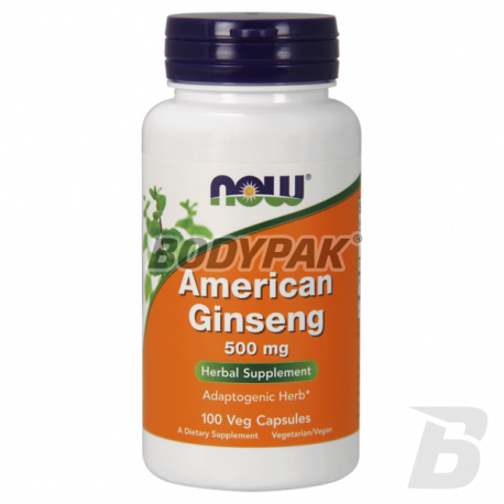 NOW Foods American Ginseng 500mg - 100 kaps.