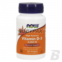 NOW Foods Vitamin D-3 2000 IU - 120 kaps.