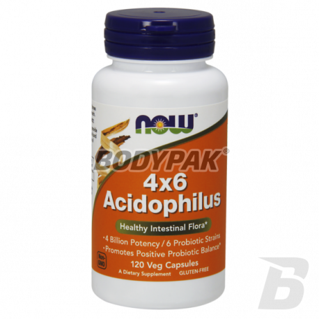 NOW Foods Acidophilus 4X6 - 120 kaps.