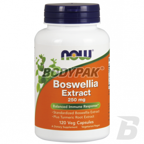 NOW Foods Boswelia Extract + Turmeric 120 kaps.