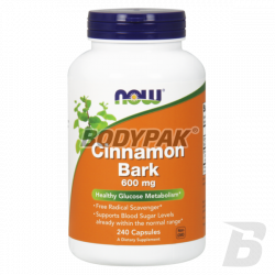 NOW Foods Cinnamon Bark 600mg 240 kaps.