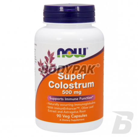 NOW Foods Super Colostrum 500mg 90 kaps.