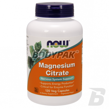 NOW Foods Magnesium Citrate - 120 kaps.