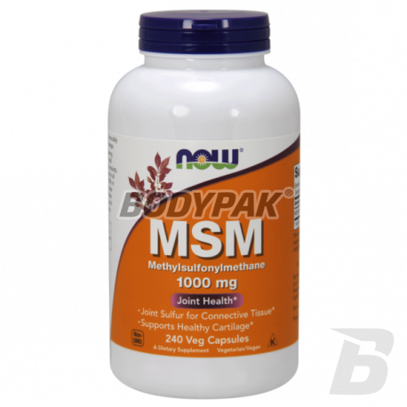 NOW Foods MSM 1000mg - 240 kaps.