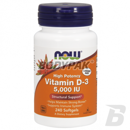 NOW Foods Vitamin D-3 5000 IU - 240 tabl.
