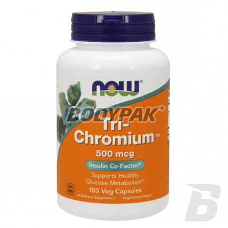 NOW Foods Tri-Chromium + Cinnamon - 180 kaps.