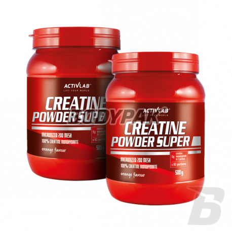Activlab Creatine Powder Super [Wersja smakowa] - 2 x 500 g