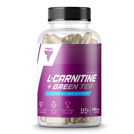 Trec L-Carnitine + Green Tea - 180 kaps.