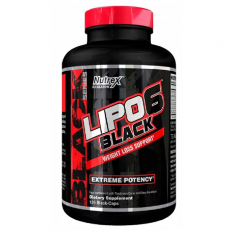 Nutrex Lipo-6 Black WEIGHT LOSS SUPPORT - 120 kaps.