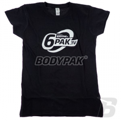 B-WEAR T-shirt 6PAK.TV WOMAN [CZARNA] - 1 szt.