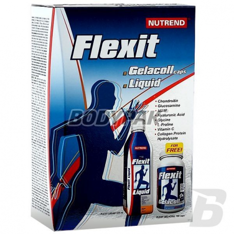 Nutrend Flexit Liquid - 500 ml + Gelacoll - 180 kaps.