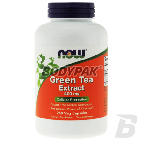 NOW Foods Green Tea Extract 400mg - 250 kaps.