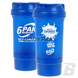 6PAK Shaker + Pillbox white TRAIN EAT 500ml