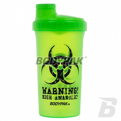BODYPAK Shaker green WARNING 700ml
