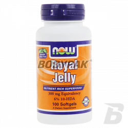 NOW Foods Royal Jelly 300mg - 100 kaps.