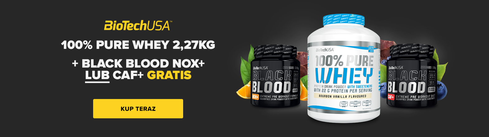 BioTech 100% Pure Whey + Black Blood GRATIS
