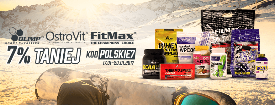 7% DISCOUNT FOR ALL PRODUCTS OF OLIMP, OSTROVIT AND FITMAX